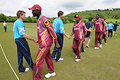 IIC T20 World Cup warm up match - Scotland V West Indies, at the John Paul Getty Oval, in the grounds of Wormsley Estate, Buckinghamshire - handshakes at end of the game, which the windies won by 14 runs - Picture by Donald MacLeod - 28 May 2009