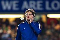 Marcos Alonso of Chelsea ahead of the Carabao Cup semi final 1st leg match between Chelsea and Arsenal at Stamford Bridge, London, England on 10 January 2018. Photo by Andy Rowland.