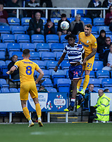Preston North End's Patrick Bauer (right) battles with Reading's Ovie Ejaria (left) <br /> <br /> Photographer David Horton/CameraSport<br /> <br /> The EFL Sky Bet Championship - Reading v Preston North End - Saturday 19th October 2019 - Madejski Stadium - Reading<br /> <br /> World Copyright © 2019 CameraSport. All rights reserved. 43 Linden Ave. Countesthorpe. Leicester. England. LE8 5PG - Tel: +44 (0) 116 277 4147 - admin@camerasport.com - www.camerasport.com