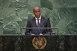 LOS general debate – 27 September<br /> <br /> AM<br /> <br /> His Excellency Jovenel Moïse, President, Republic of Haiti