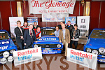 Killarney Town Mayor Paddy Courtney, President of Killarney Chamber of Tourism & Commerce Johnny Mc Guire and Clerk of the Course Kevin Flannery with Charlie O'Neill, Michael O'Mahony Jnr, Brian Allen, Anthony O'Connor, Darren McCormack, Rose Cunningham, Johnny Hickey and Patrick O'Donoghue at the Launch of the Killarney Historic Stages Rally (Saturday Dec 7th) in The Gleneagle Hotel last Sunday.