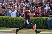 Hawgs Illustrated/BEN GOFF <br /> Hayden Hurst (81), South Carolina tight end, runs for a touchdown Saturday, Oct. 7, 2017, at Williams-Brice Stadium in Columbia, S.C.