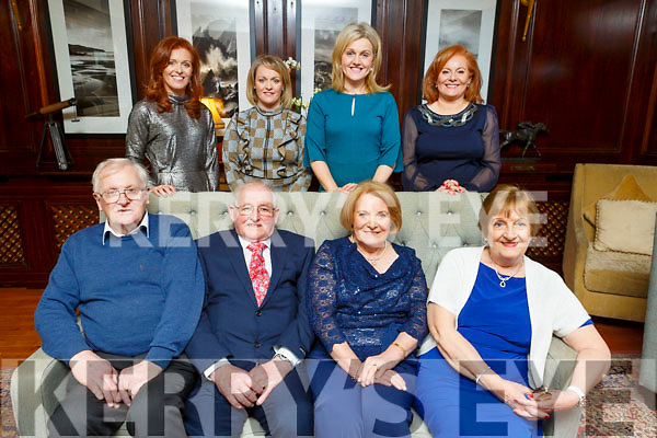 Patrick and Mary Casey from Ballyheigue celebrating their 50th wedding anniversary with their bestman and bridesmaid and their 4 daughters in the Ballygarry House Hotel on Sunday. <br /> Seated l to r: Tom Casey (Bestman), Patrick and Mary and Kitty Lucid (Bridesmaid).<br /> Back l to r: Patricia, Moira, Ann Marie and Breda Casey
