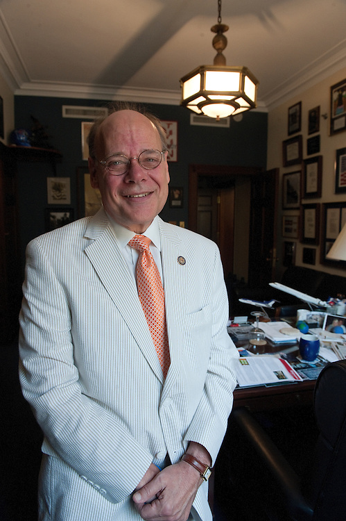 UNITED STATES - JULY 29: Steve Cohen, D-TN., poses for a photo in his office in the Longworth House Office Building on July 29, 2011. Cohen used to be the mascot at Vanderbilt. He brought dignity back to mascotdom. (Photo By Douglas Graham/Roll Call)