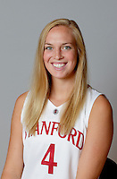 Taylor Greenfield with Stanford Women's basketball team. Photo taken on Wednesday, October 2, 2013