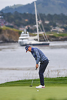 Bernd Wiesberger (AUT) lips out his putt on 18 during round 4 of the 2019 US Open, Pebble Beach Golf Links, Monterrey, California, USA. 6/16/2019.<br /> Picture: Golffile | Ken Murray<br /> <br /> All photo usage must carry mandatory copyright credit (© Golffile | Ken Murray)