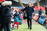 Swansea City manager Carlos Carvalhal arrives at Liberty Stadium prior to kick off of the Premier League match between Swansea City and Burnley at the Liberty Stadium, Swansea, Wales, UK. Saturday 10 February 2018