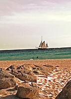Sailboat in paradise