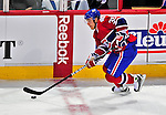 18 December 2008: Montreal Canadiens' right wing forward Matt D'Agostini in action against the Philadelphia Flyers during the first period at the Bell Centre in Montreal, Quebec, Canada. The Canadiens, trying to avoid a four-game slide, defeated the Flyers 5-2, thus ending Philadelphia's 5-game winning streak. ***** Editorial Sales Only ***** Mandatory Photo Credit: Ed Wolfstein Photo