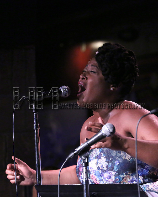 Charity Angel Dawson performing at The Lilly Awards Broadway Cabaret at the Cutting Room on October 17, 2016 in New York City.