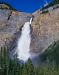 Yoho National Park, B.C., Canada<br /> Takakkaw Falls plunging 380 meters into the Yoho River Vallley