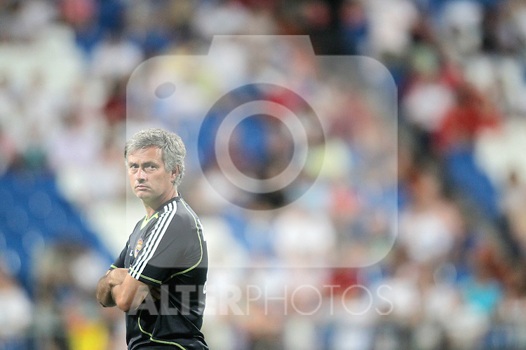 Real Madrid's Jose Mourinho during warm up. August 24, 2010. (ALTERPHOTOS/Alvaro Hernandez)