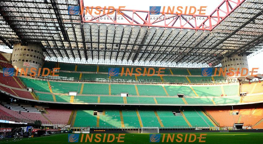 spalti vuoti tribuna senza spettatori<br /> Milano 28-09-2014 Stadio Giuseppe Meazza - Football Calcio Serie A Inter - Cagliari. Foto Giuseppe Celeste / Insidefoto