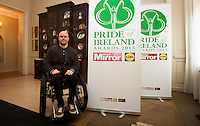 02/04/2015<br /> Mark Pollock Adventire Athlete &amp; Motivational Speaker, The 1st blind man to reach to the South Pole  during the Pride of Ireland judging day in the Mansion House, Dublin.<br /> Photo:  Gareth Chaney Collins