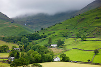 Hill Farm at Easedale near Grasmere in the Lake District National Park, Cumbria, UK