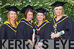 Maura O'Connell, Scartaglin, Ann O'Connell, Abbeydorney, Connie O'Leary Farranfore, and Mary Stack Courtney Tralee, who graduated  with a Bachelor of Science (Honours) in Nursing at the Autumn graduations which took place at the Brandon hotel on Friday.