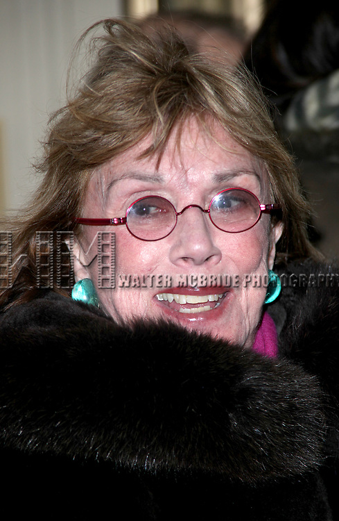 """Phyllis Newman Arriving for the Opening Night Performance of Will Ferrell  starring in """"You're Welcome America. A Final Night With George W. Bush"""" at the Cort Theatre in New York City.<br />February 5, 2009"""
