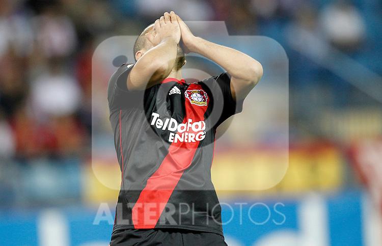 Bayer Leverkusen's  eren Derdiyok during UEFA Europe League, september 30, 2010...Photo: Cesar Cebolla / ALFAQUI