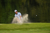 Kevin Kisner (USA) hits from the trap on 17 during round 4 of the World Golf Championships, Mexico, Club De Golf Chapultepec, Mexico City, Mexico. 2/24/2019.<br /> Picture: Golffile | Ken Murray<br /> <br /> <br /> All photo usage must carry mandatory copyright credit (© Golffile | Ken Murray)