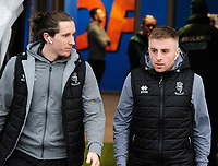 Lincoln City's Aaron Lewis, left, and Joe Morrell arrive at ground<br /> <br /> Photographer Andrew Vaughan/CameraSport<br /> <br /> The EFL Sky Bet League One - Shrewsbury Town v Lincoln City - Saturday 11th January 2020 - New Meadow - Shrewsbury<br /> <br /> World Copyright © 2020 CameraSport. All rights reserved. 43 Linden Ave. Countesthorpe. Leicester. England. LE8 5PG - Tel: +44 (0) 116 277 4147 - admin@camerasport.com - www.camerasport.com