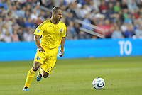 Columbus Crew defender Julius James in action... Sporting Kansas City defeated Columbus Crew 2-1 at LIVESTRONG Sporting Park, Kansas City, Kansas.
