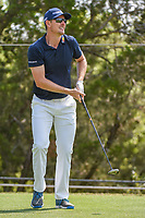 Justin Rose (GBR) watches his tee shot on 2 during day 1 of the WGC Dell Match Play, at the Austin Country Club, Austin, Texas, USA. 3/27/2019.<br /> Picture: Golffile | Ken Murray<br /> <br /> <br /> All photo usage must carry mandatory copyright credit (© Golffile | Ken Murray)