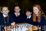 L-R Ciara Murphy, Diarmuid O'Connor, Chris Fealy and Emma Leen from Ballincrossig NS, at the Clanmaurice Credit Union sponsored quiz last Sunday in Causeway Comprehensive school.