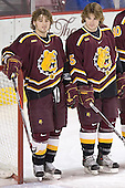 Joe Van Culin, Matt Verdone - The Boston College Eagles and Ferris State Bulldogs tied at 3 in the opening game of the Denver Cup on Friday, December 30, 2005, at Magness Arena in Denver, Colorado.  Boston College won the shootout to determine which team would advance to the Final.