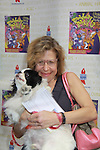 """One Life To Live Jackie Hoffman """"Eunice"""" and ATWT """"Miranda"""" stars in The Adams Family attends Broadway Barks Lucky 13th Annual Adopt-a-thon - A """"Pawpular"""" Star-studded dog and cat adopt-a-thon on July 9, 2011 in Shubert Alley, New York City, New York with Bernadette Peters and Mary Tyler Moore as hosts.  (Photo by Sue Coflin/Max Photos)"""