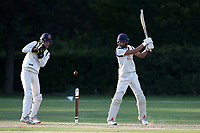 Naivedyam Dwivedi in batting action for Wanstead during Brentwood CC vs Wanstead and Snaresbrook CC, Essex Cricket League Cricket at The Old County Ground on 12th September 2020