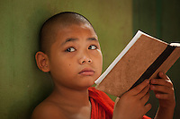 young monk in a monastery in Yangon, Myanmar