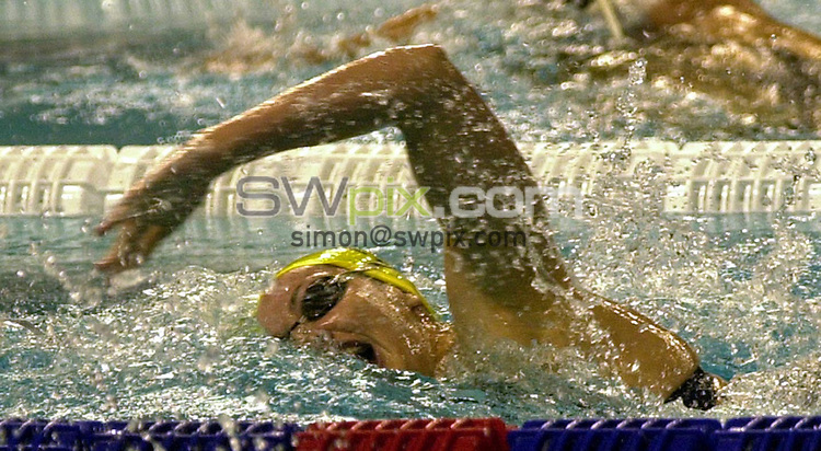 Pix: Matthew Lewis/SWpix.com. Swimming. 10th Fina World Championships 2003, Barcelona. 20/07/2003...COPYRIGHT PICTURE>>SIMON WILKINSON>>01943 436649>>..Australia's Elka Graham competes in the Womens 200m Freestyle heats.