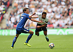 Tottenham's Mousa Dembele tussles with Chelsea's Andreas Christensen during the premier league match at the Wembley Stadium, London. Picture date 20th August 2017. Picture credit should read: David Klein/Sportimage