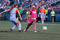 Rochester, NY - Saturday Aug. 27, 2016: Cami Privett, Jessica McDonald during a regular season National Women's Soccer League (NWSL) match between the Western New York Flash and the Houston Dash at Rochester Rhinos Stadium.