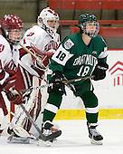 Laura Bellamy (Harvard - 1), Sally Komarek (Dartmouth - 18) - The visiting Dartmouth College Big Green defeated the Harvard University Crimson 3-2 on Wednesday, November 23, 2011, at Bright Hockey Center in Cambridge, Massachusetts.