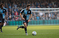 Max Kretzschmar of Wycombe Wanderers heads forward during the Sky Bet League 2 match between Wycombe Wanderers and Northampton Town at Adams Park, High Wycombe, England on 3 October 2015. Photo by Andy Rowland.