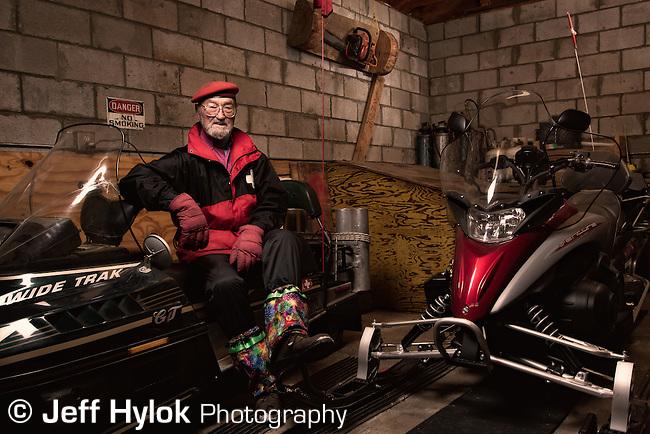 Boyd Sherwood, grandpa figure of the Pajarito Mountain Ski Patrol. Keeper of the patrol sleds