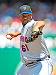 7 June 2009: New York Mets' starting pitcher Livan Hernandez in action against the Washington Nationals at Nationals Park in Washington, DC. The Mets shut out the Nationals 7-0 to take the third game of the weekend series. Mandatory Credit: Ed Wolfstein Photo