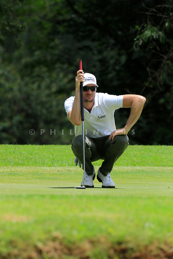 Sebastian Heisele (GER) during the final round of the Barclays Kenya Open played at Muthaiga Golf Club, Nairobi, Kenya 22nd - 25th March 2018 (Picture Credit / Phil Inglis) 22/03/2018<br /> <br /> <br /> All photo usage must carry mandatory copyright credit (&copy; Golffile | Phil Inglis)