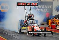 Jan 24, 2009; Chandler, AZ, USA; NHRA top fuel dragster driver Cory McClenathan during testing at the National Time Trials at Firebird International Raceway. Mandatory Credit: Mark J. Rebilas-