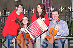 MESSIAH: Launching Handel, Messiah by Kerry Chamber Choir and Orchestra in of the Kerry branch of the Irish Red Cross to be held at St John's Church of Ireland Ashe street, Tralee at 8pm l-r: Niamh Sheehan, Maria O'Connor, Shauna Moriarty and Stephen O'Halloran.