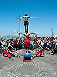 San Francisco: Street entertainers at Fisherman's Wharf.  Photo copyright Lee Foster. Photo # casanf104164