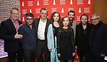 Jeffory Lawson, Trip Cullman, Odessa Young, Chris Noth, Isabelle Huppert, Justice Smith, Florian Zeller and Neil Pepe during the Opening Night after party for Atlantic Theater Company's 'The Mother' at The Gallery at the Dream Downtown on March 11, 2019 in New York City.