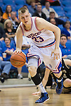 Texas-Arlington Mavericks forward Karol Gruszecki (33) in action during the game between the Idaho Vandals and the Texas Arlington Mavericks at the College Park Center arena in Arlington, Texas. Idaho defeats Arlington 77 to 64....