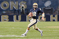 Pitt quarterback Tino Sunseri. The Youngstown St. Penguins defeated the Pittsburgh Panthers 31-17 on Saturday, September 1, 2012 at Heinz Field in Pittsburgh, PA.