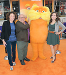 "Danny DeVito , Rhea Perlman  and daughter at Universal Pictures' Dr. Suess' ""The Lorax"" L.A. Premiere held at The Universal City Walk Theatre in Universal, California on February 19,2012                                                                               © 2012 Hollywood Press Agency"