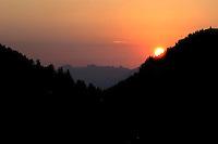 Liechtenstein  Malbun  June 2008.Small town high in the Alpine (southeastern)..Sunset...