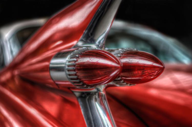 Close up of Classic car. Cadillac