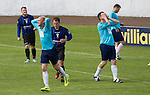 Harestanes AFC v Girvan FC, 15/08/2015. Scottish Cup preliminary round, Duncansfield Park. Home players show their frustration as a second-half chance is missed as Harestanes AFC (in light blue) take on Girvan FC in a Scottish Cup preliminary round tie, staged at Duncansfield Park, home of Kilsyth Rangers. The home team were the first winners of the Scottish Amateur Cup to be admitted directly into the Scottish Cup in the modern era, whilst the visitors participated as a result of being members of both the Scottish Football Association and the Scottish Junior Football Association. Girvan won the match by 3-0, watched by a crowd of 300, which was moved from Harestanes ground as it did not comply with Scottish Cup standards. Photo by Colin McPherson.
