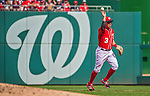 28 September 2014: Washington Nationals second baseman Asdrubal Cabrera makes a play to first in the in the third inning against the Miami Marlins at Nationals Park in Washington, DC. The Nationals shut out the Marlins 1-0, caping the season with the first Nationals no-hitter in modern times. The win also notched a 96 win season for the Nats: the best record in the National League. Mandatory Credit: Ed Wolfstein Photo *** RAW (NEF) Image File Available ***